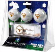 Texas Longhorns Golf Ball Gift Pack with Cap Tool