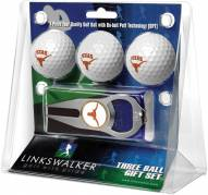 Texas Longhorns Golf Ball Gift Pack with Hat Trick Divot Tool