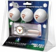 Texas Longhorns Golf Ball Gift Pack with Kool Tool