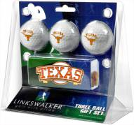 Texas Longhorns Golf Ball Gift Pack with Slider Clip
