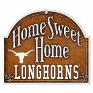 Texas Longhorns Home Sweet Home Arched Wood Sign