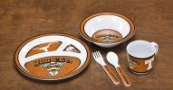 Texas Longhorns Kid's 5 Piece Dish Set