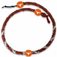 Texas Longhorns Leather Football Necklace