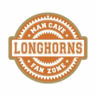 Texas Longhorns Man Cave Fan Zone Wood Sign