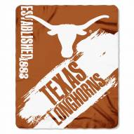 Texas Longhorns Painted Fleece Blanket