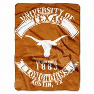 Texas Longhorns Rebel Raschel Throw Blanket