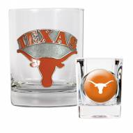 Texas Longhorns Rocks Glass & Shot Glass Set