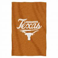 Texas Longhorns Script Sweatshirt Throw Blanket