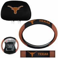 Texas Longhorns Steering Wheel & Headrest Cover Set