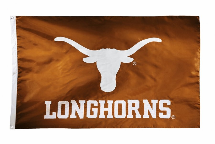 Texas Longhorns Two Sided 3' x 5' Flag
