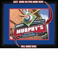 Texas Rangers 13 x 16 Personalized Framed Sports Pub Print