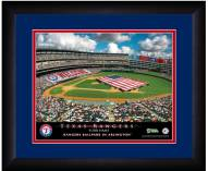 Texas Rangers 13 x 16 Personalized Framed Stadium Print