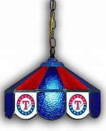 "Texas Rangers 14"" Glass Pub Lamp"
