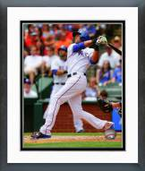 Texas Rangers Alex Rios 2014 Action Framed Photo