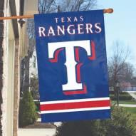 Texas Rangers Appliqué 2-Sided Banner Flag