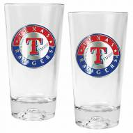 Texas Rangers Baseball Sculpted Bottom Pint Glass Set