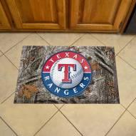 Texas Rangers Camo Scraper Door Mat