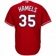 Texas Rangers Cole Hamels Replica Scarlet Alternate Baseball Jersey