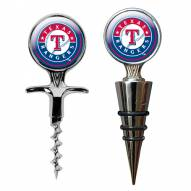 Texas Rangers Cork Screw & Wine Bottle Topper Set