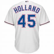 Texas Rangers Derek Holland Replica Home Baseball Jersey
