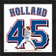 Texas Rangers Derek Holland Uniframe Framed Jersey Photo