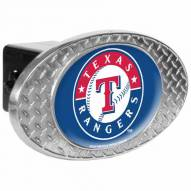 Texas Rangers Metal Diamond Plate Trailer Hitch Cover