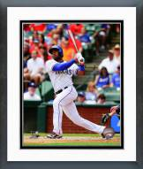 Texas Rangers Elvis Andrus 2014 Action Framed Photo
