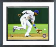 Texas Rangers Elvis Andrus 2015 Action Framed Photo