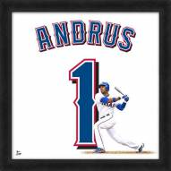 Texas Rangers Elvis Andrus Uniframe Framed Jersey Photo