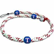 Texas Rangers Frozen Rope Baseball Necklace