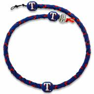Texas Rangers Frozen Rope Blue Baseball Necklace