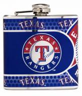 Texas Rangers Hi-Def Stainless Steel Flask