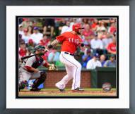 Texas Rangers Josh Hamilton 2015 Action Framed Photo