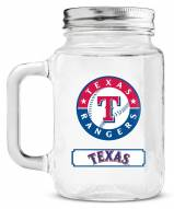 Texas Rangers Mason Glass Jar