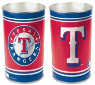 Texas Rangers Metal Wastebasket