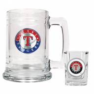 Texas Rangers MLB Boilermaker Set - Shot Glass & Tankard Mug