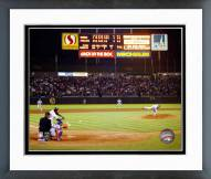 Texas Rangers Nolan Ryan 6th No Hitter Last Pitch Framed Photo