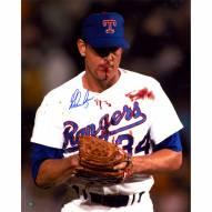 "Texas Rangers Nolan Ryan Blood Signed 16"" x 20"" Photo"