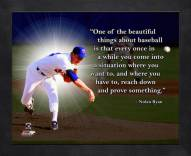 Texas Rangers Nolan Ryan Framed Pro Quote