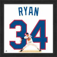 Texas Rangers Nolan Ryan Uniframe Framed Jersey Photo
