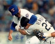 "Texas Rangers Nolan Ryan Ventura Fight Signed 16"" x 20"" Photo"
