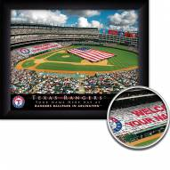 Texas Rangers Personalized Framed Stadium Print