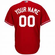 Texas Rangers Personalized Replica Scarlet Alternate Baseball Jersey