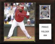 "Texas Rangers Prince Fielder 12"" x 15"" Player Plaque"