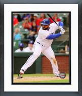 Texas Rangers Prince Fielder 2014 Action Framed Photo