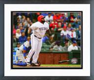 Texas Rangers Prince Fielder 2015 Action Framed Photo