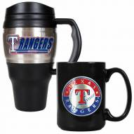 Texas Rangers Travel Mug & Coffee Mug Set