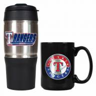 Texas Rangers Travel Tumbler & Coffee Mug Set