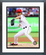 Texas Rangers Yu Darvish 2014 Action Framed Photo