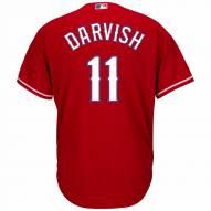 Texas Rangers Yu Darvish Replica Scarlet Alternate Baseball Jersey